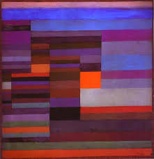 fire in the evening paul klee oil painting