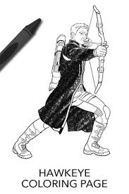 Small Picture Avengers Hawkeye Coloring Page Disney Movies