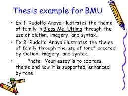 writing thesis based essays by cathy marvin reformatted by thesis example for bmu ex 1 rudolfo anaya illustrates the theme of family in bless