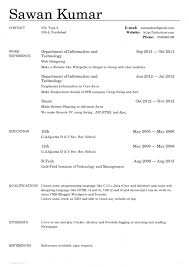 ... Typing A Resume 6 Awesome One Page Sample For Freshers. Mesmerizing .