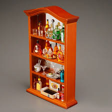 Bar Cabinet Decorated With Liquor