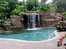In ground pools with waterfalls Back Yard Waterfall Landscape Design Ideas For Small Front Yards Inground Pools With Waterfalls