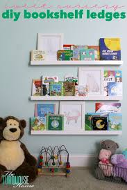 diy bookshelf ledges for the nursery
