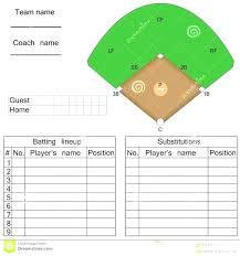 Baseball Field Template Printable 8 Batting Order Template Baseball Position And Field Lineup