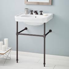 cheviots mayfair metal 25 console bathroom sink with overflow reviews wayfair
