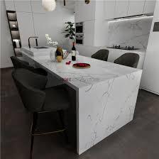 engineered stone kitchen countertop calacatta white marble quartz stone slab