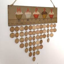 diy wooden family and friends happy birthday calendar board