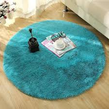 round teal rug round carpet large long plush gy soft non slip floor rug yoga seat round teal rug