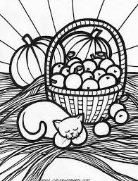 Autumn Coloring Pages Fall Harvest Coloring