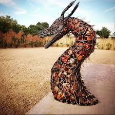 Rock Sculpture steel rod river rock vikinginspired dragon sculpture 7845 by xevi.us