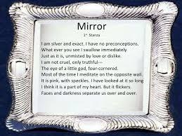 mirror sylvia plath theme fresh essays mirror by sylvia plath mirror