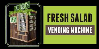 Salad Vending Machine Chicago Simple Fresh Salad Vending Machine In Chicago With Farmers Fridge