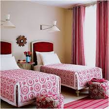 twin beds for teenage girls. Wonderful For Girls Room With Two Twin Bed Having Red Tall Headboard Combined  Striped On Beds For Teenage E