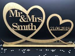 personalised mr mrs wood table sign date mr and mrs wedding decoration gift 5852 p jpg