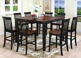 tall dining room sets. Contemporary Dining Room With Two Tone Finish Wood Square Shape Tall Kitchen Table, Sets G