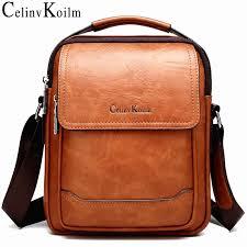 <b>Celinv Koilm</b> Brand Men Bags 100% High Quality Leather Shouder ...