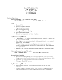 Public Accounting Experience Resume Certified Public Accountant