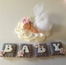 Baby Shower Cake Topper Fondant Baby On Luulla