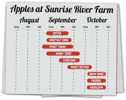 Apple Ripening Calendar For Sunrise River Farm And U Pick