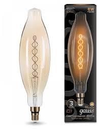 Светодиодная <b>лампа GAUSS Led Vintage</b> Filament BT120 8W E27 ...