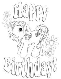 Horse Birthday Coloring Pages Print Coloring