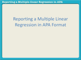 Spss Apa Chart Template Reporting A Multiple Linear Regression In Apa
