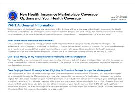 part a provides general information the health insurance marketplace and how an employer offers coverage