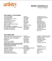 production designer resumes marc fisichella production designer resume