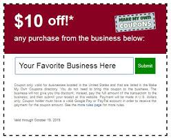 Make My Own Coupon Make My Own Coupons Create Coupons You Can Use Yourself Anywhere