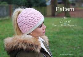 Ponytail Hat Crochet Pattern Awesome Love It Ponytail Hat Crochet Pattern UK Kerry Jayne Designs