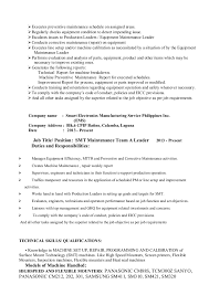Electronic Equipment Repairer Resume Classy My Resume Format