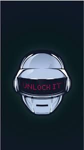 here's a cute Daft Punk wallpaper i got ...