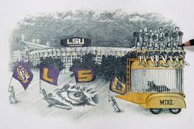 lsu wall art tiger stadium football gifts feldfire