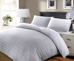 satin stripe duvet cover egyptian cotton bedding set