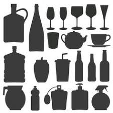 kitchen utensils silhouette vector free. Bottle And Glass Silhouettes Collection Free Vector Kitchen Utensils Silhouette T