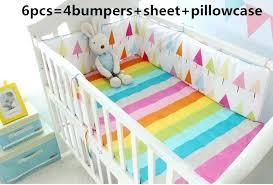 rainbow crib bedding baby set bed linen cradle cot cover pastel sets