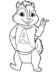 alvin and the chipmunk coloring pages and the chipmunks coloring pages alvin chipmunk coloring pages