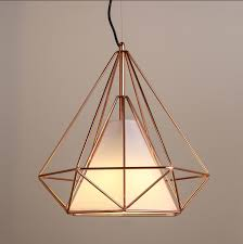 marvelous cage light pendant copper diamond wire cage pendant light pendant lighting copper