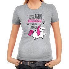 Bunte Lustige Einhorn T Shirts Schöne Damen Tshirts Mit Einhorn