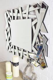 modern shattered glass mirror 120x80cm jh020 lifestyle