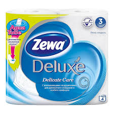 "<b>Бумага туалетная</b> ""<b>Zewa Deluxe</b>"", трехслойная, 150 листов, 4 ..."
