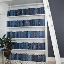 Image Royal Blue Modern Blue Home Office With White Bookshelf Hgtv Photo Library Blue Modern Home Office Photos Hgtv