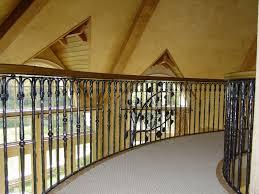 wrought iron railing. Custom Made Wrought Iron Stair And Bridge Railing