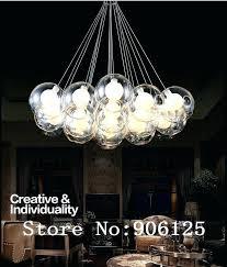 bubble gl light fixtures tree lights floating chandelier floating bubble light pendant amber