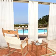 com hatteras sunbrella tab top curtain 54 x 96 in outdoor curtains garden outdoor