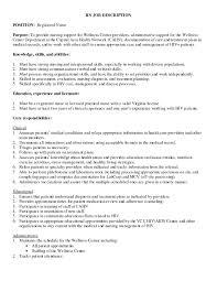 New Rn Job Description Tesstermulo Com