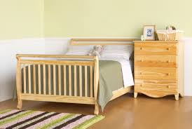 davinci emily  in  convertible baby crib in natural w toddler