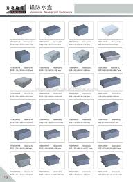 Box Size Chart Ip Rated Aluminium Waterproof Enclosure Box View Ip Rated Aluminium Waterproof Enclosure Box Everest Product Details From Ningbo Everest Enclosure