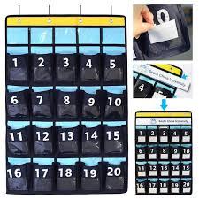 Cell Phone Pocket Chart Misdecor Diy Named Tags Organizer Numbered Classroom Pocket
