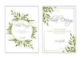 Place Card Design Banner On Flower Background Wedding Invitation Modern Card